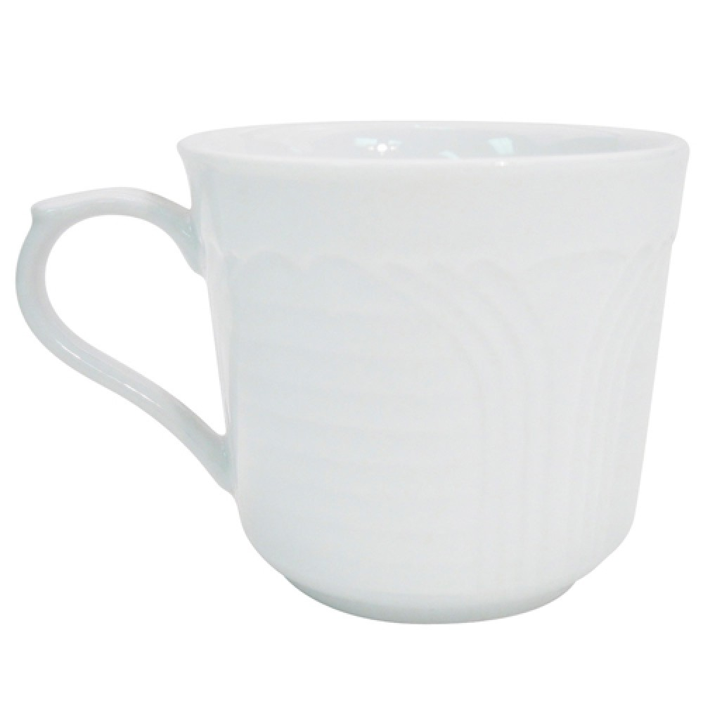 CAC China CRO-35 Porcelain Embossed Corona A.D. Cup 3.5 oz.