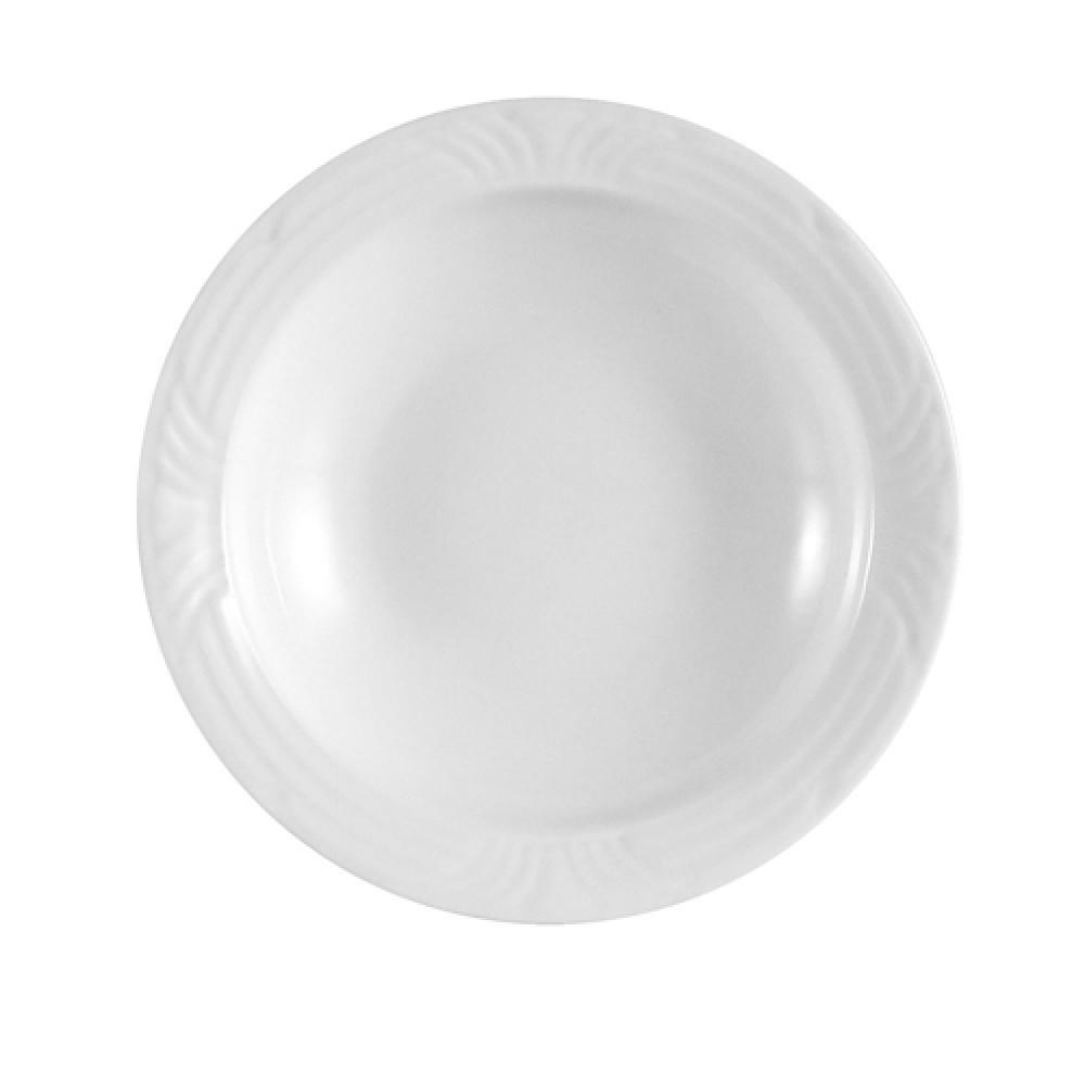 """CAC China CRO-32 Porcelain Embossed Corona 4 1/2"""" Fruit Dish"""
