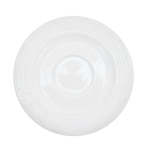 """CAC China CRO-2 Corona Porcelain Saucer 6"""""""