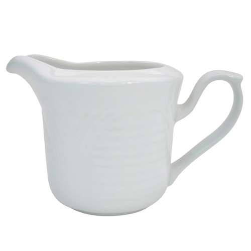 CAC China CRO-pc Porcelain Embossed Corona 6 oz. Creamer