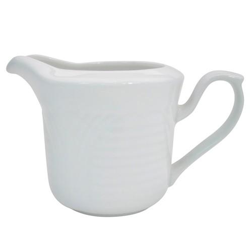 CAC China CRO-pc Porcelain Embossed Corona 6 oz. Creamer