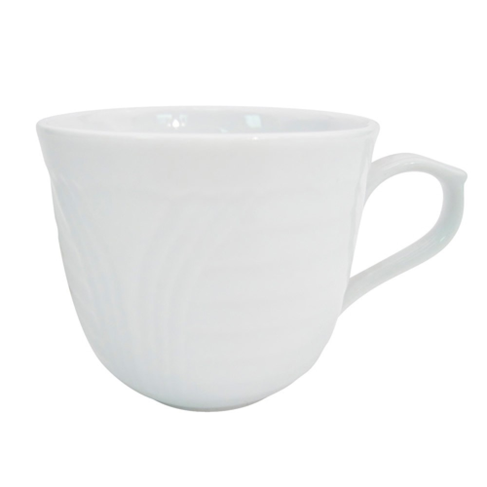 CAC China CRO-1 Porcelain Embossed Corona 7.5 oz. Cup