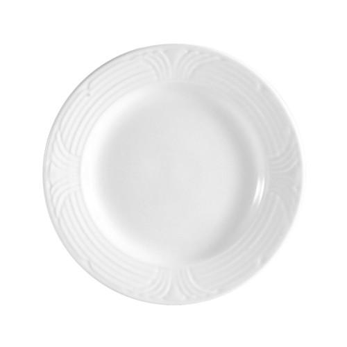 "CAC China CRO-9 Corona Porcelain Plate 9 3/4"""