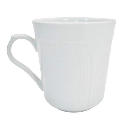 CAC China CRO-17 Porcelain Embossed Corona Mug, 8 oz.