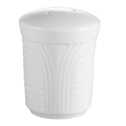 CAC China CRO-SS Porcelain Embossed Corona Salt Shaker