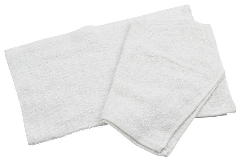 "Winco BTW-30 Cotton Bar Towel, White 16"" x 19"""