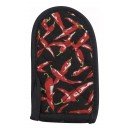 "Winco HDH-6C Cotton Chili Pepper Design Pot Handle Holder 3-1/2"" x 6-1/2"""