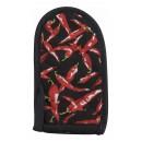 Cotton Chili Pepper Design Pot Handle Holder - 3-1/2 x 6-1/2