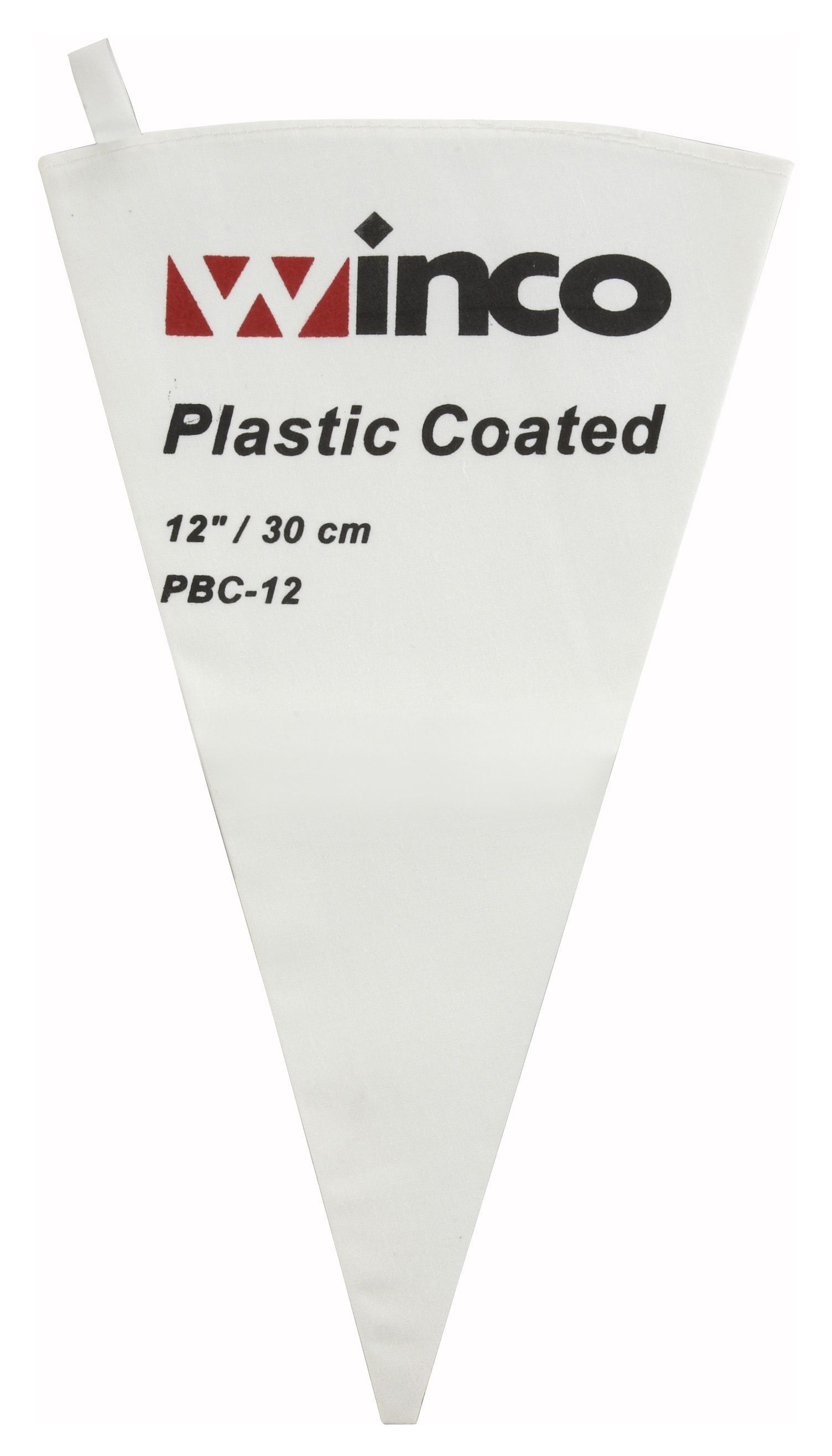 Winco PBC-12 Cotton Pastry Bag with Inner Plastic Coating, 12""