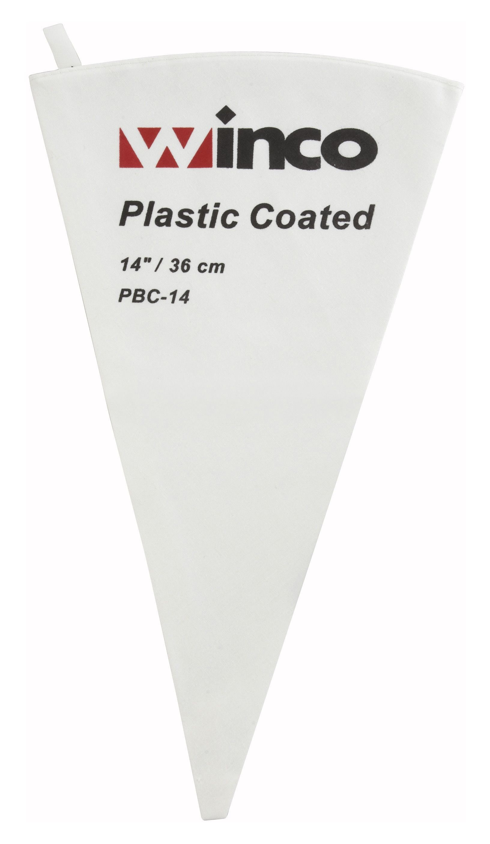 Winco PBC-14 Cotton Pastry Bag with Inner Plastic Coating, 14""