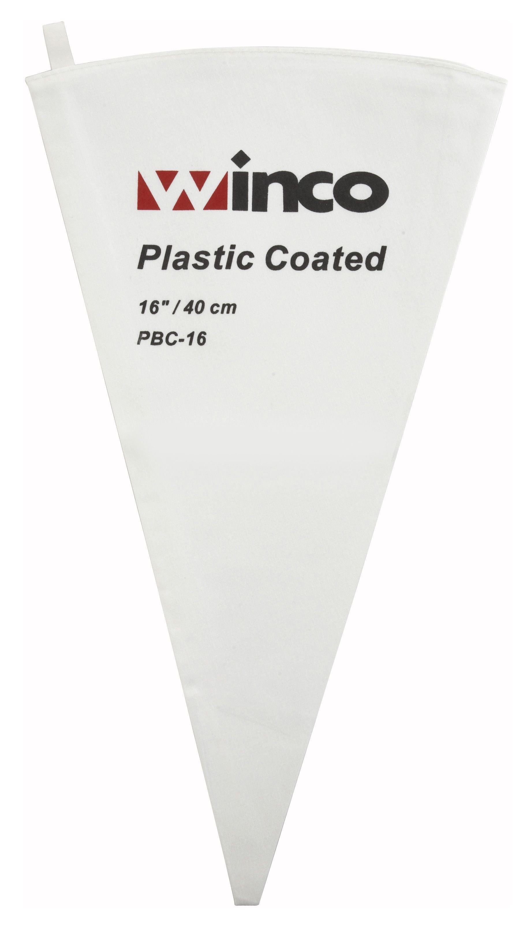 Winco PBC-16 Cotton Pastry Bag with Inner Plastic Coating, 16""