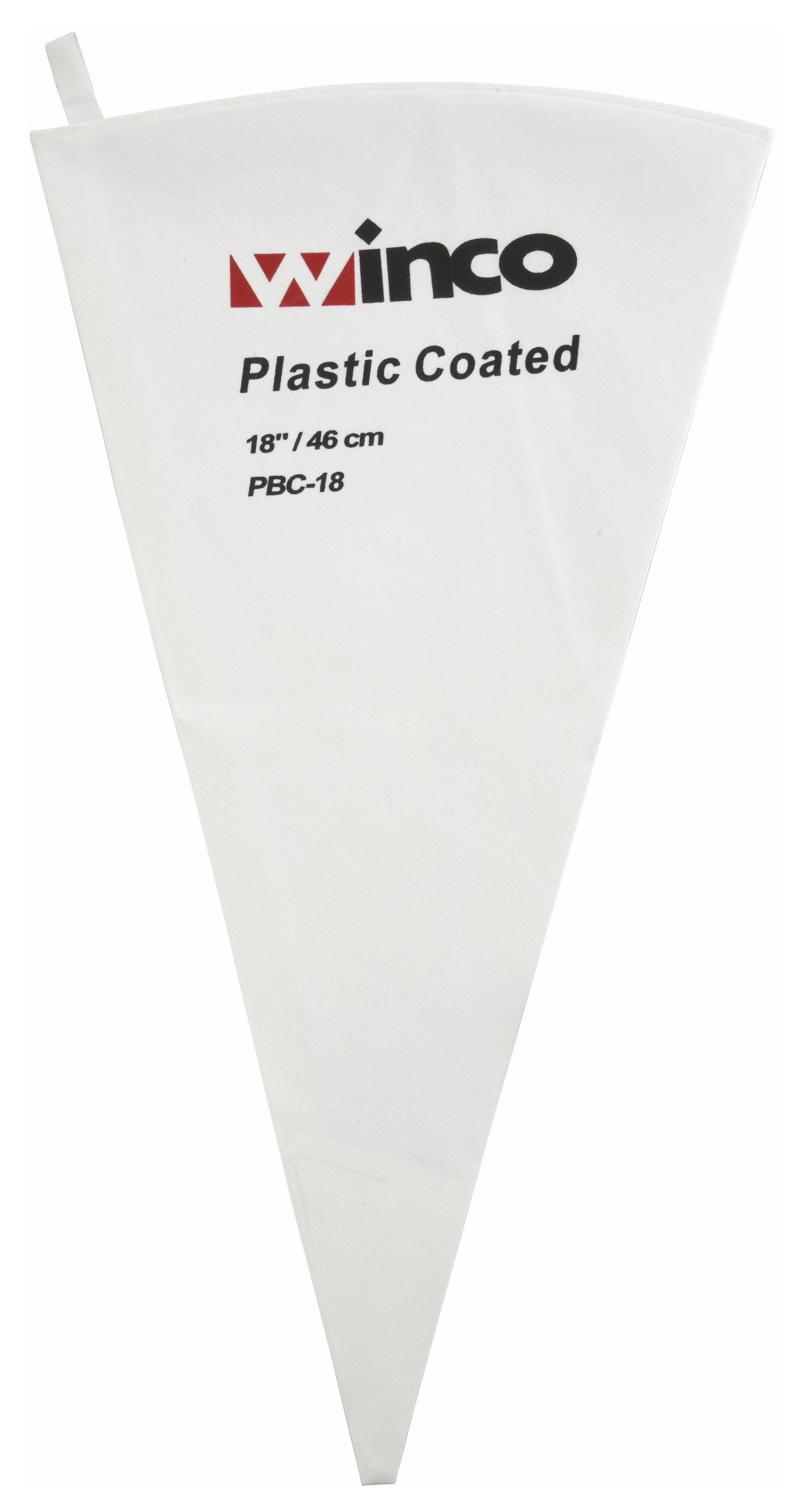 Winco PBC-18 Cotton Pastry Bag with Inner Plastic Coating, 18""