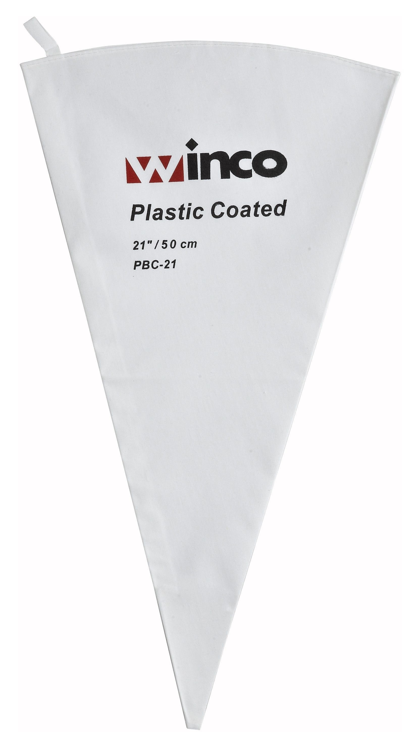"""Winco PBC-21 Cotton Pastry Bag with Inner Plastic Coating, 21"""""""