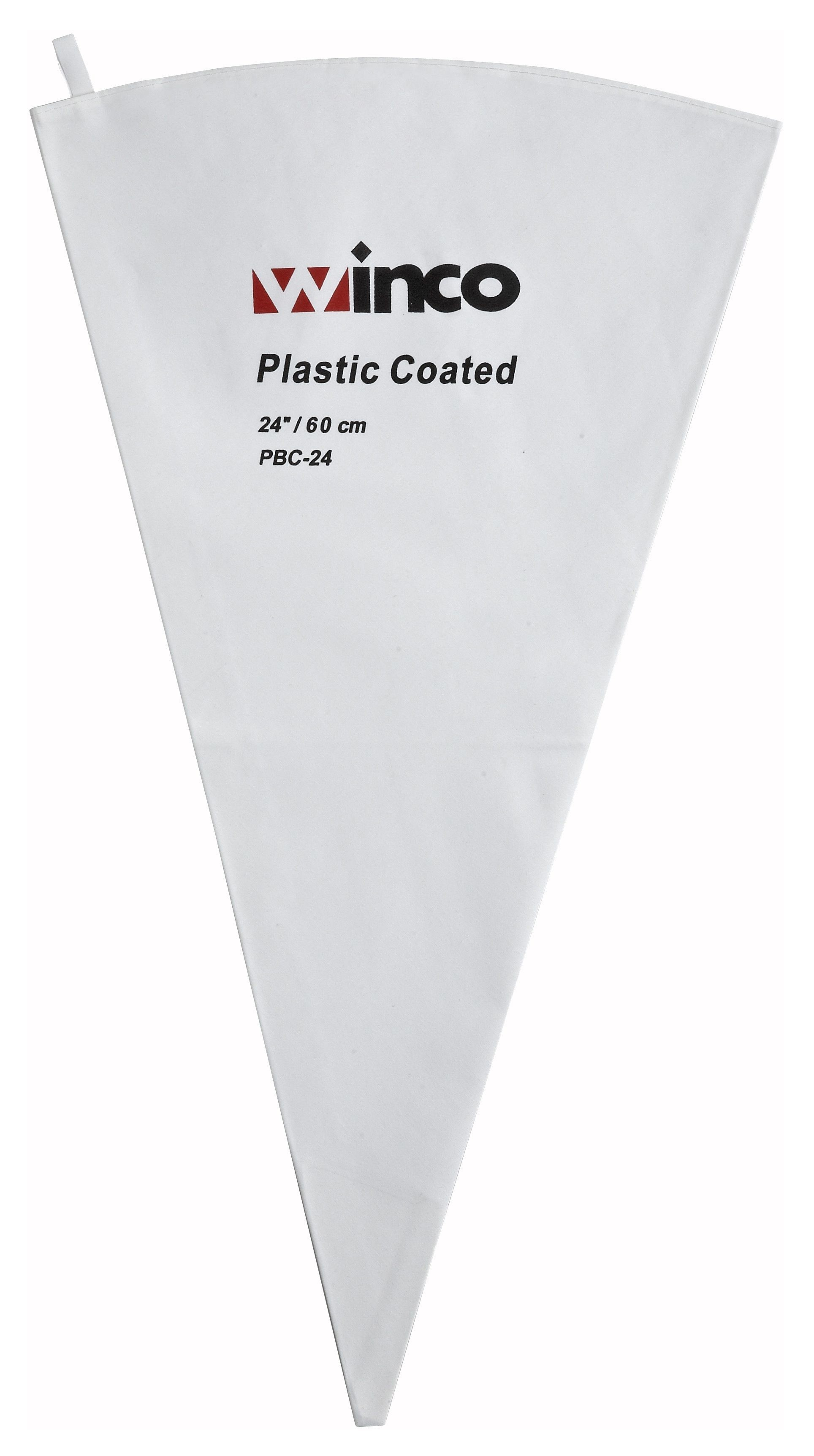 """Winco PBC-24 Cotton Pastry Bag with Inner Plastic Coating, 24"""""""