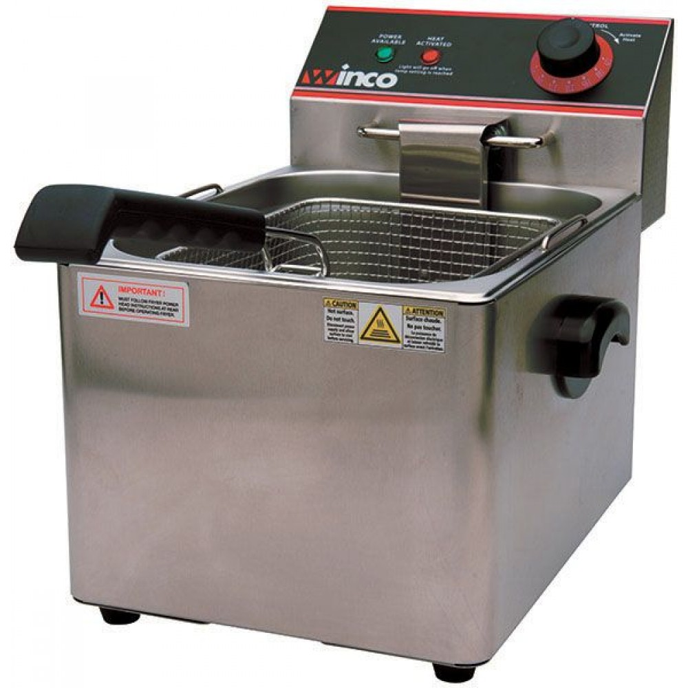 Countertop Electric Deep Fryer by Winco, Single Well, 16 Lb Capacity