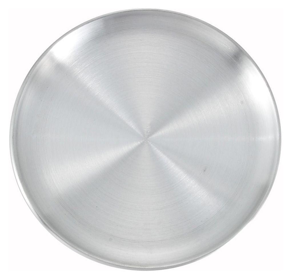 """Winco APZC-10 Coupe-Style Aluminum Pizza Pan, 10"""" Dia."""