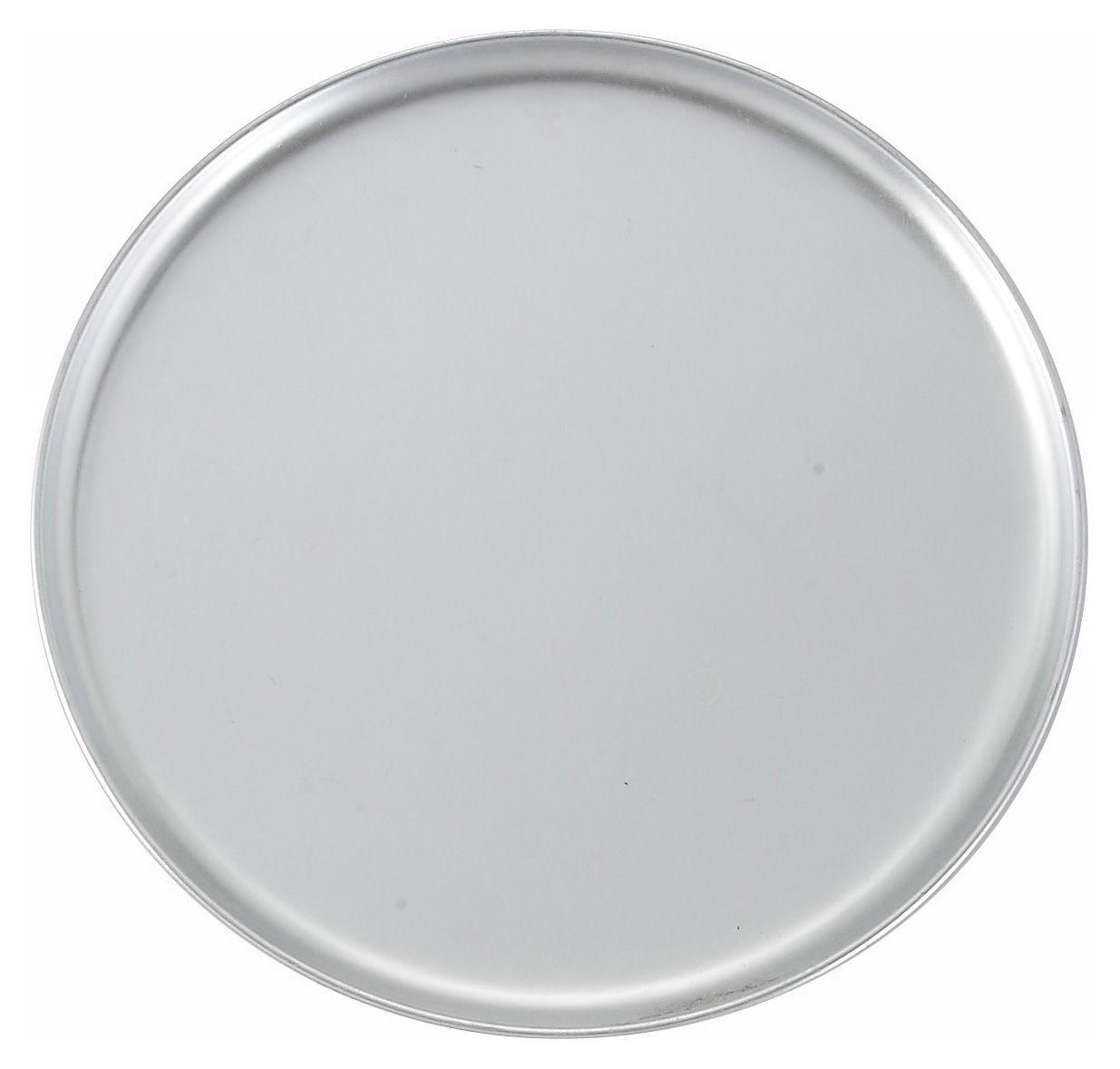 """Winco APZC-12 Coupe-Style Aluminum Pizza Pan,12"""" Dia."""