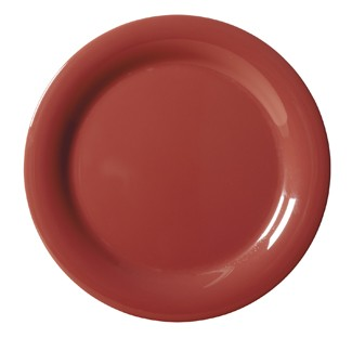 G.E.T. Enterprises NP-10-CR Diamond Harvest Cranberry Melamine Narrow Rim Plate 10-1/2""