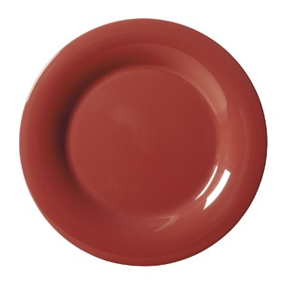 G.E.T. Enterprises WP-12-CR Diamond Harvest Cranberry Melamine Wide Rim Plate 12""