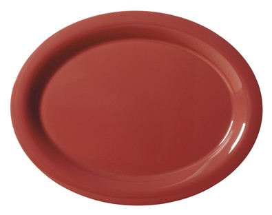 "G.E.T. Enterprises OP-120-CR Diamond Harvest Cranberry Melamine 12"" x 9"" Oval Platter,"
