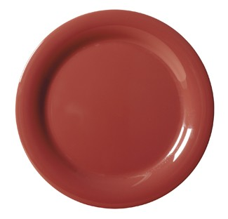 G.E.T. Enterprises NP-6-CR Diamond Harvest Cranberry Melamine Narrow Rim Plate 6-1/2""