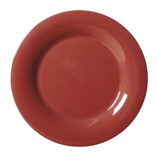 G.E.T. Enterprises WP-7-CR Diamond Harvest Cranberry Melamine Wide Rim Plate 7-1/2""