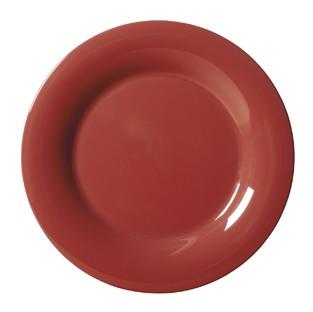 "G.E.T. Enterprises WP-9-CR Diamond Harvest Cranberry Melamine Wide Rim Plate 9"""