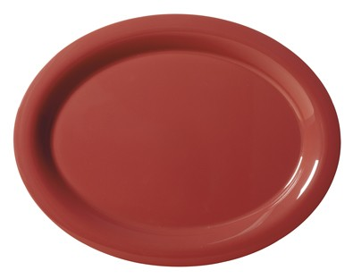 "G.E.T. Enterprises OP-950-CR Diamond Harvest Cranberry Melamine 9-3/4"" x 7-1/4"" Oval Platter,"