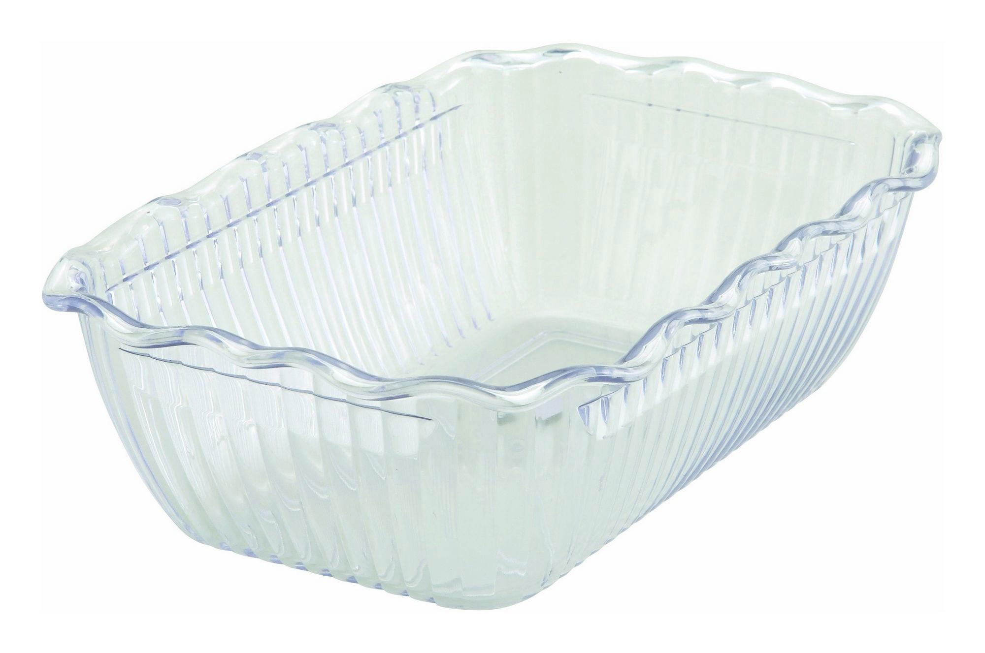 "Winco CRK-10C Cream Food Storage Container/Crock 10"" x 7"" x 3"""