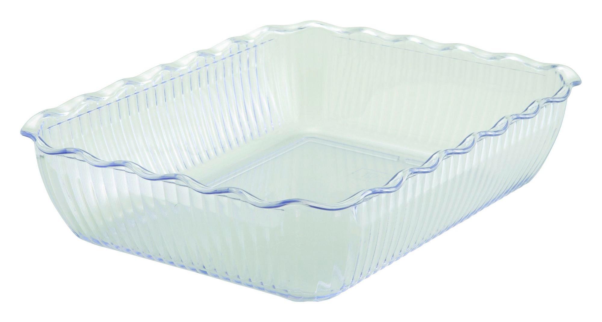 "Winco CRK-13C Cream Food Storage Container/Crock 13 x 10"" x 3"""