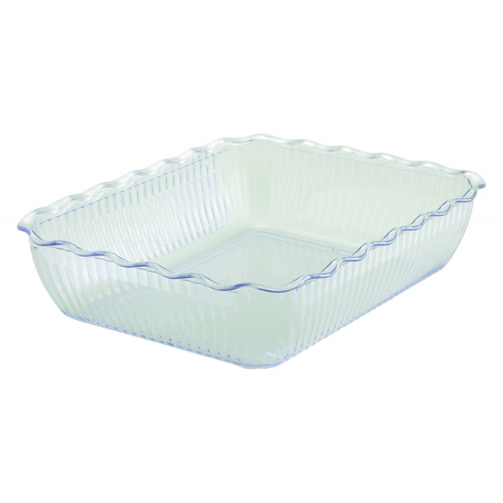 "Winco CRK-13C Cream Food Storage Container/Crock 13 x 10"" x 3"""
