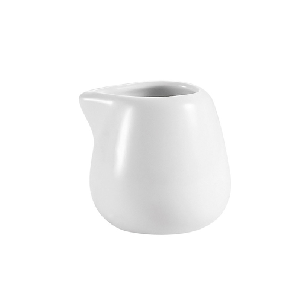 CAC China PC-206 White Porcelain Creamer 6 oz.