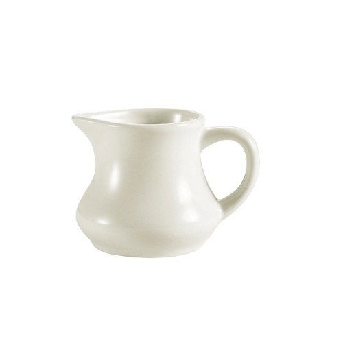 CAC China PC-6-AW Creamer with Handle, American White 6 oz.