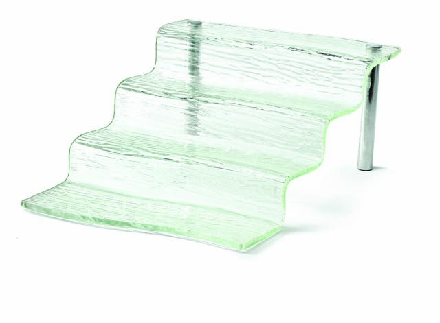 "TableCraft AW4 Cristal Collection 4-Step Acrylic Waterfall Display Riser 12-1/4"" x 15-1/2"" x 6-1/4"""