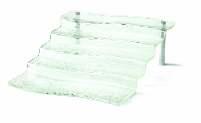 "TableCraft AW5 Cristal Collection 5-Step Acrylic Waterfall Display Riser 16-1/2"" x 21"" x 6-1/4"""