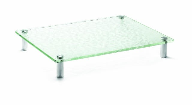 "TableCraft A1612 Cristal Collection Rectangular Acrylic Display Tray 16"" x 12"""