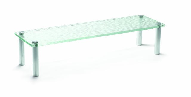 "TableCraft A206 Cristal Collection Rectangular Acrylic Display Tray 19-3/4"" x 6 x 4"""
