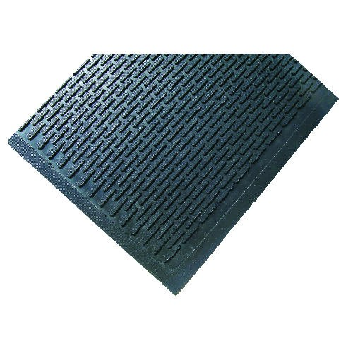 Crown-Tred Outdoor/Indoor Scraper Mat, 4' X 6', Black