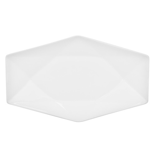 "CAC China QZT-41 Crystal Rectangular Platter, 14"" x 8 3/4"""