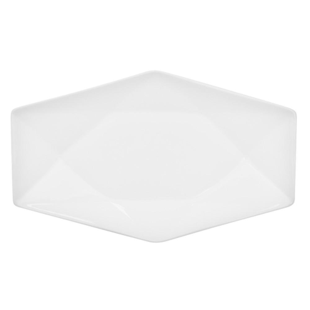 "CAC China QZT-61 Crystal Rectangular Platter, 16"" 1/2"" x 10"""