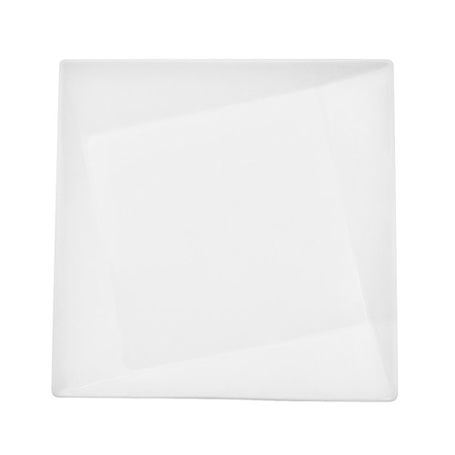 CAC China QZT-208 Crystal Square Plate 9""