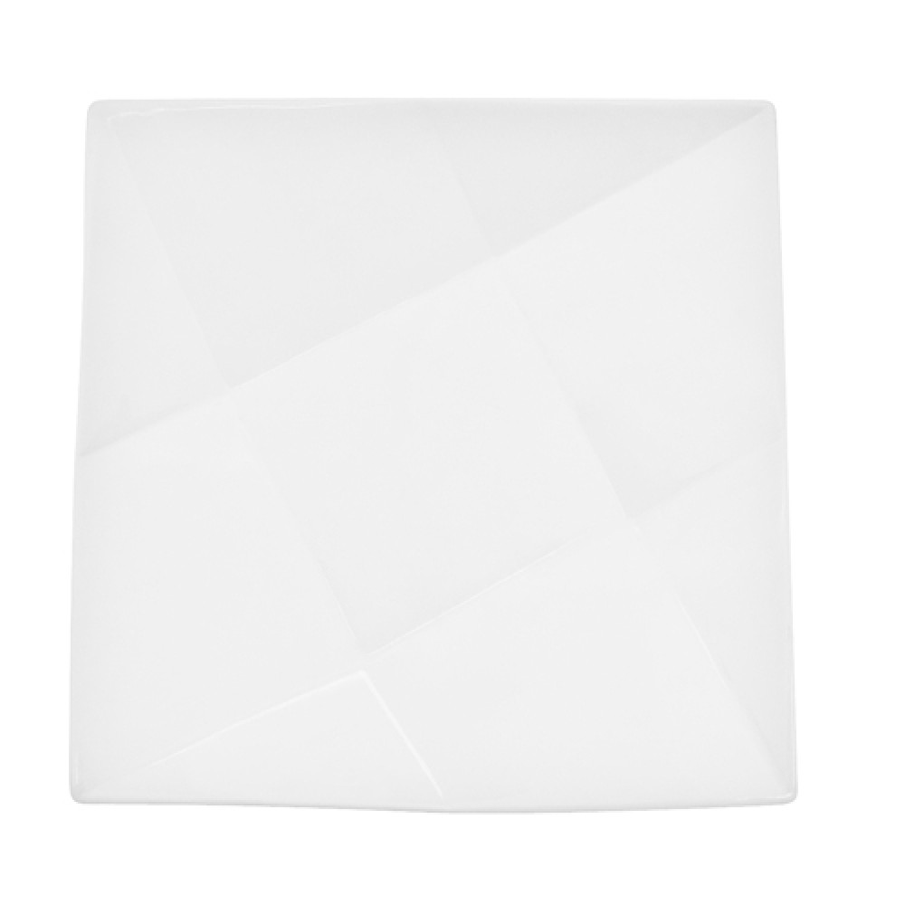 CAC China QZT-21 Crystal Square Plate 12""