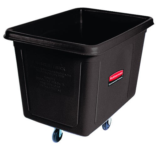 Cube Truck, 500 lb Capacity, 16 Cubic ft, Black