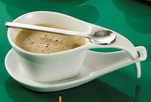 "CAC China PTC-2-S Party Collection 7 oz. Cup, 7"" Saucer and Spoon Set"