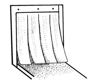 Franklin Machine Products  280-1059 Curtain, Dishwasher (24.75X9)