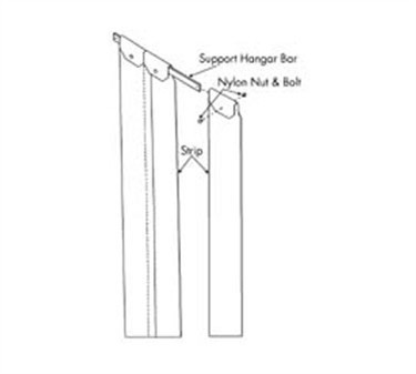 Franklin Machine Products  124-1258 Easimount Strip Curtain for Doors up to 42