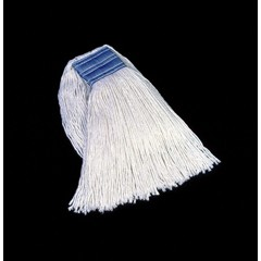 Cut-End Blend Mop Heads, Cotton/Synthetic, White, 24 oz, 5-in. Headband