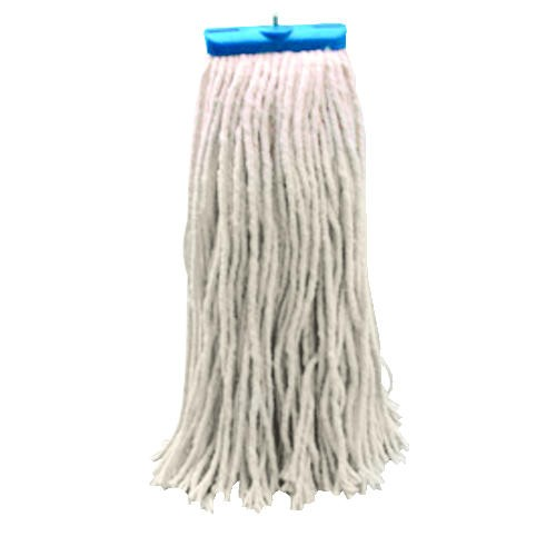 Cut-End Lie-Flat Wet Mop Head, Cotton, 24 Oz, White