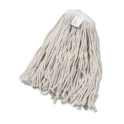 Cut-End Wet Mop Head, Cotton, White, #20, 12/Carton