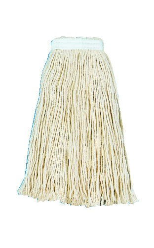 Cut-End Wet Mop Head, Rayon, #24 Size, White